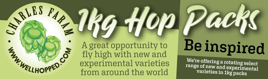 1kg hop pack graphic - We're offering a rotating select range of new and experimental varieties in 1kg packs. Hops in small quantities. Be inspired!